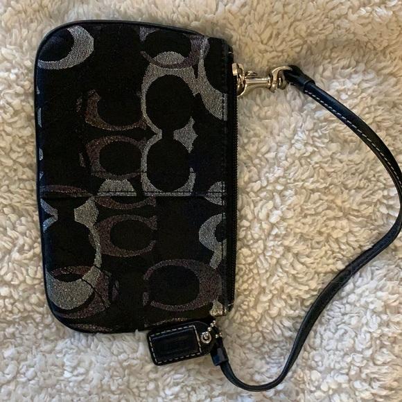 Coach wristlet card/coin purse.